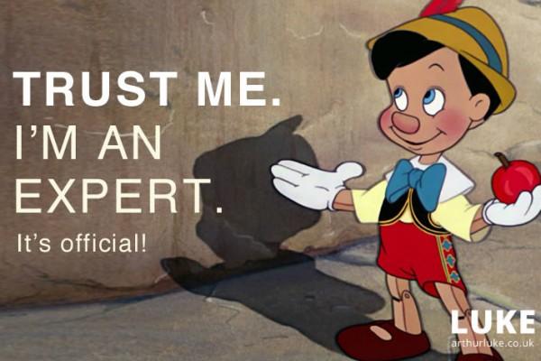 Trust Me. I'm an Expert.